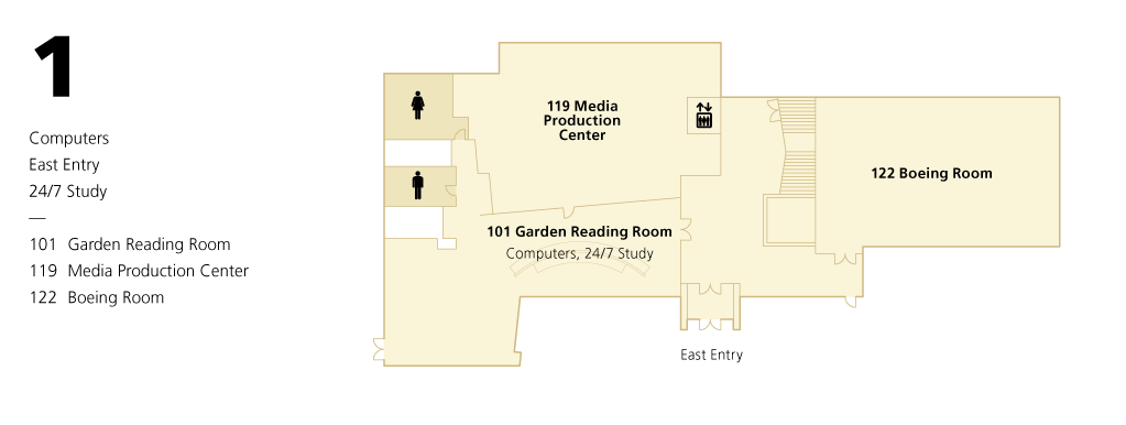 Library Level 1 Floor Plan