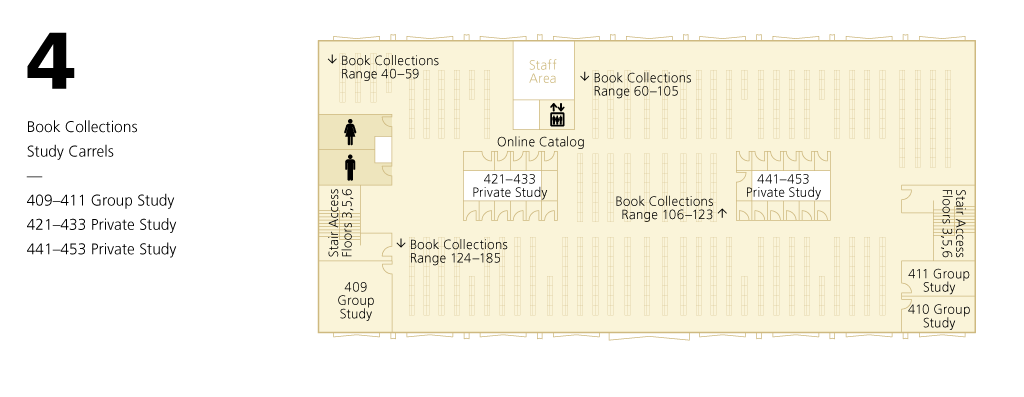 Library Level 4 Floor Plan